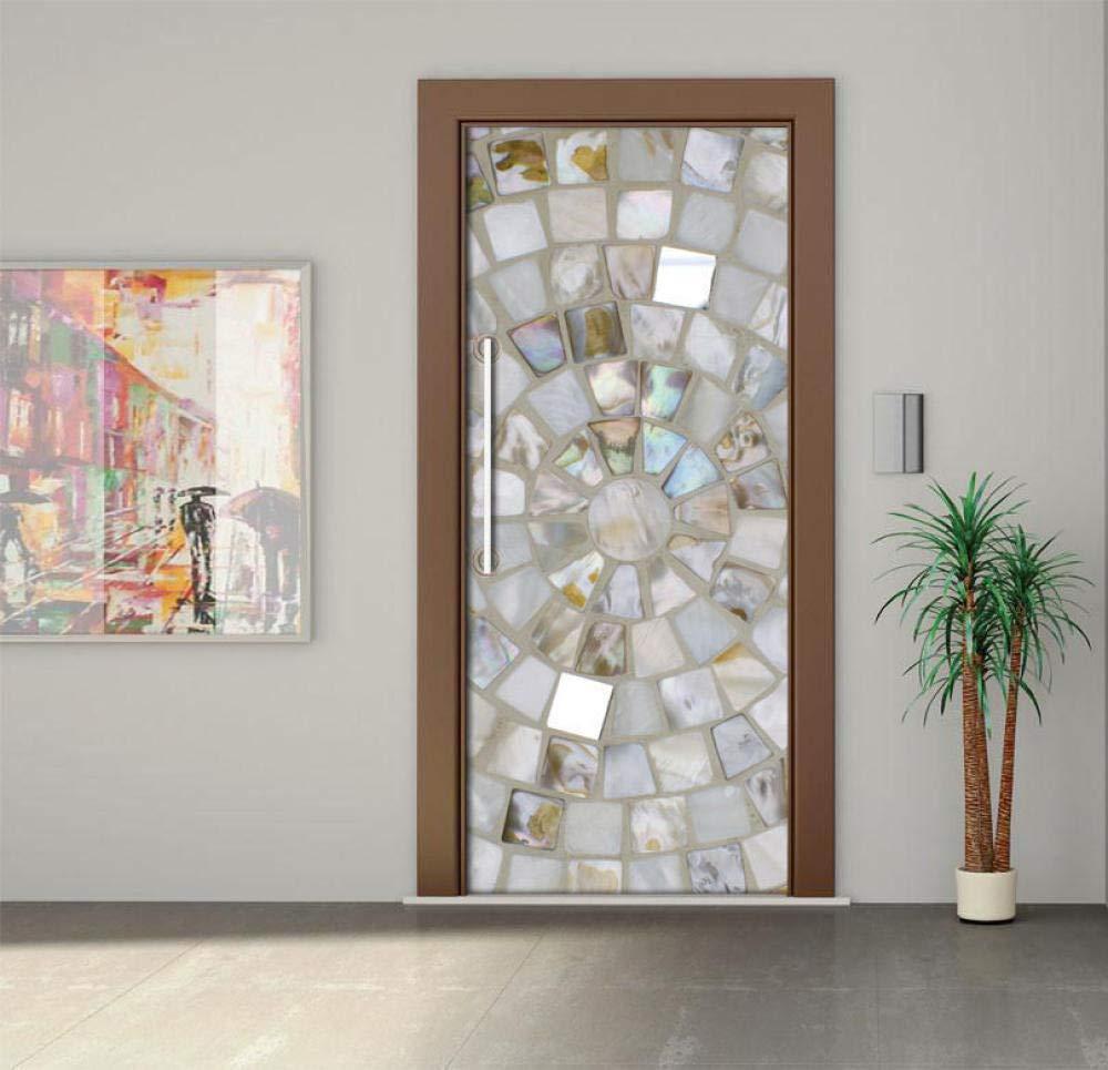 Concha De Empalme Puerta De Madera Diy Papel Autoadhesivo Puerta Mural Etiqueta Art Decals Papel Tapiz