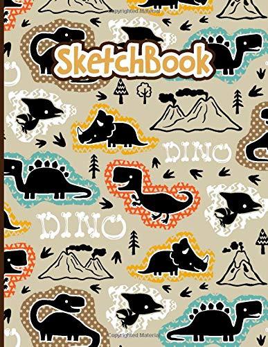 SketchBook: Dinosaur Sketch Book For Kids | Blank Paper for Drawing - 110 Pages ( 8.5'x11' )Blank Paper for Drawing, Doodling or & Crayon Coloring (Drawing Book for Boys)