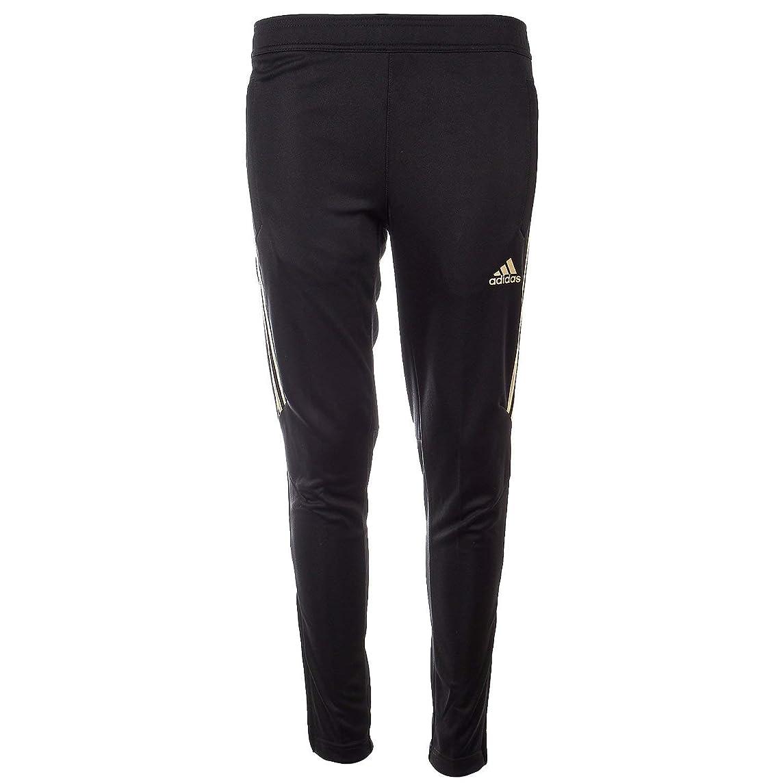 adidas Kids Boy's Tiro 17 Training Pants - Metallic (Little Kids/Big Kids) Black/Metallic Gold X-Large
