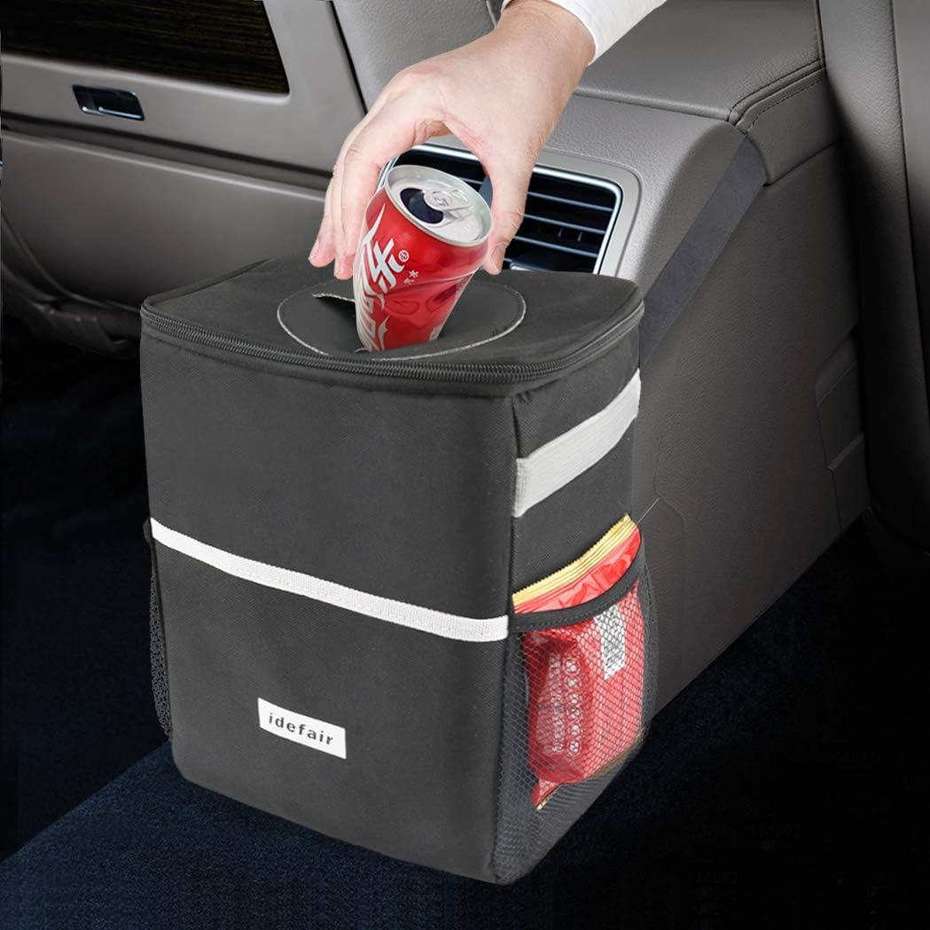 Amazon.com: Car Trash Can with Lid Storage Pockets,Portable Waterproof  Garbage Bag,Hanging Litter Bin,Contaminate Vehicle, Premium Leak-Proof  Vinyl Inside Lining Black: Industrial & Scientific
