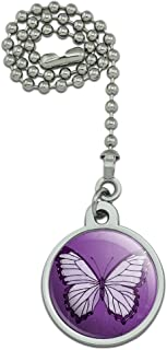 GRAPHICS & MORE Butterfly Artsy Purple Ceiling Fan and Light Pull Chain