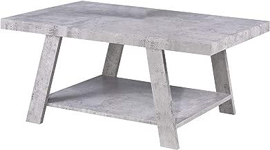 Jiwa Berani Eddie Coffee Table, Grey - 110H x 55W x 45D cm