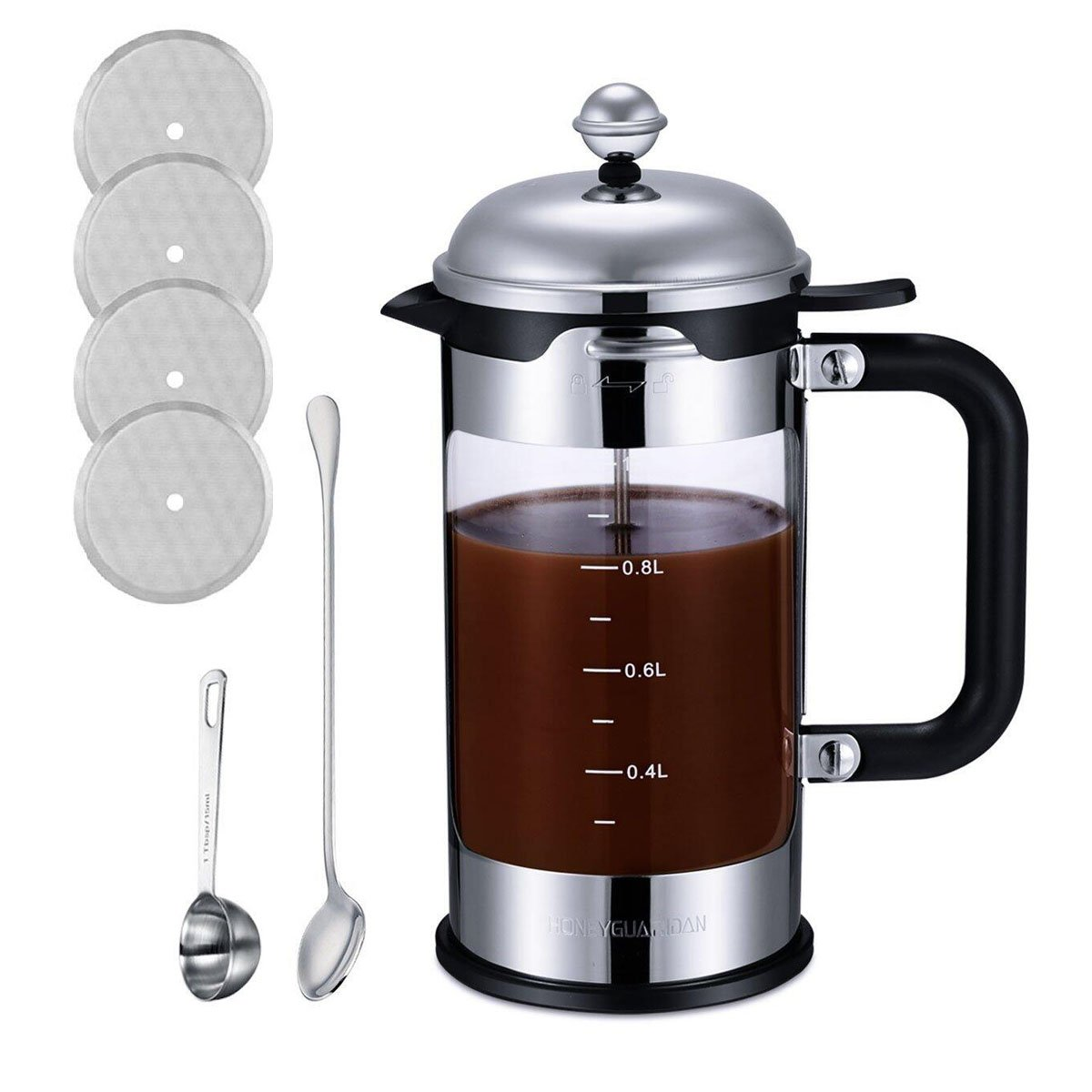 French Press Coffee Maker 34 oz 8 Cup (1 Liter)