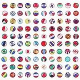 100 Pièces Punaises,Créatives Drapeau National Punaises, Metal Thumb Tacks,Pays Punaises,pour...