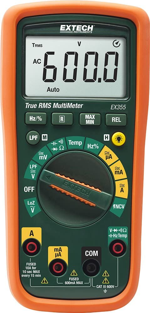 Extech EX355 True RMS Sale item Professional MultiMeter with Complete Free Shipping Tempe and NCV