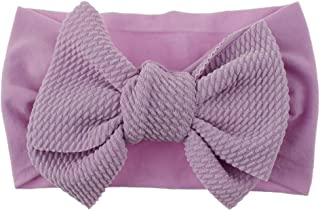 Bowknot Headwear, Dsood 2019 New Baby Super Stretchy Nylon Knotted Headbands Baby Head Wraps Baby Headbands Bows