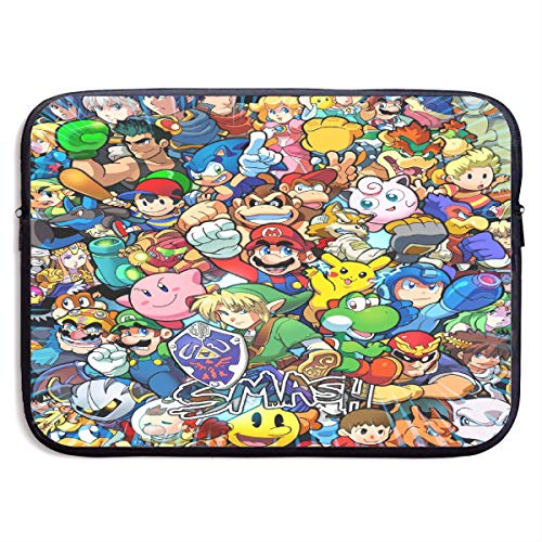 Legend of Zelda Super Mario Smash Bros Kirby Laptop Sleeve Bag Tablet Briefcase Ultraportable Protective Canvas for MacBook Pro/MacBook Air/Notebook Computer13 Inch