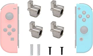 Joy-Con Metal Buckles Replacement Parts for Nintendo Switch, BRHE Joy Con Repair Replacement Latches Left and Right Lock Buckles with Screws, Springs (4 Pack)