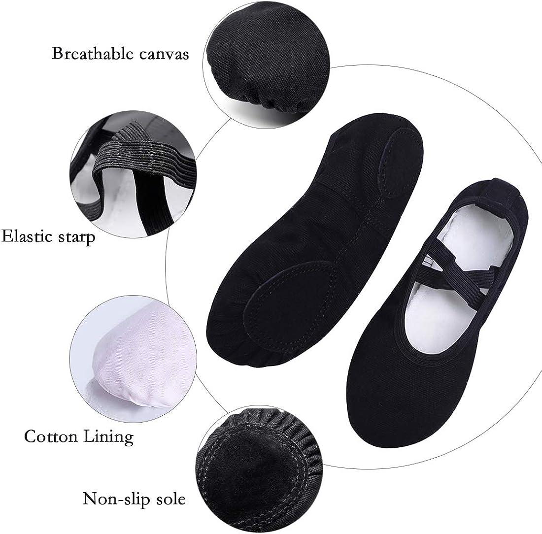 Ballet Dance Shoes for Girls Toddler//Little Kid//Big Kid//Women Koolen Ballet Shoes Canvas Upper /& Leather Sole Ballet Slippers