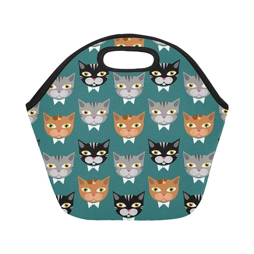 もつれ主婦ご予約XHQZJ ランチバッグ すばしこい グリーン猫 弁当袋 お弁当入れ 保温保冷 トート 弁当バッグ 大容量 トートバッグ