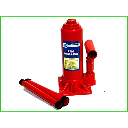 Cocoarm Heavy Duty 2 Ton Hydraulic Bottle Jack Heavy Duty Metal Material Hydraulic Bottle Jack for Auto Car Lifting Agricultural Vehicles Heavy Machinery