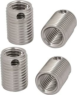 uxcell 4Pcs M3 Inner Thread 6mm Length Stainless Steel Self Tapping Thread Insert