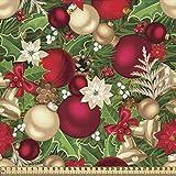 ABAKUHAUS Weihnachten Stoff als Meterware, Baum Zweige
