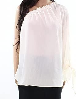 Ivory Women's Large One-Shoulder Blouse