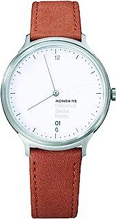 Mondaine - Helvetica Light, Reloj de Cuero Marrón para Hombre y Mujer, MH1.L2210.LG, 38 MM