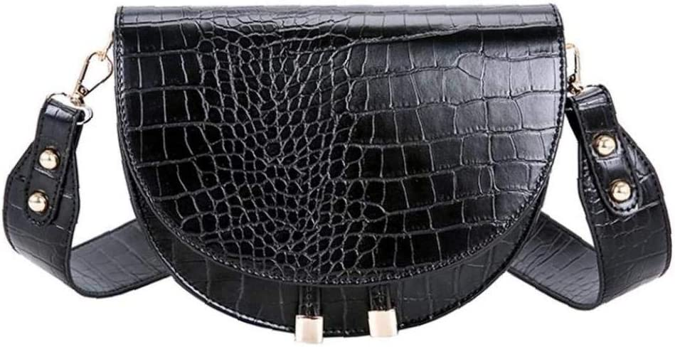 1pc Womens Pu Leather Handbags Ladies Luxury Crocodile Messenger Bag Half Bag...