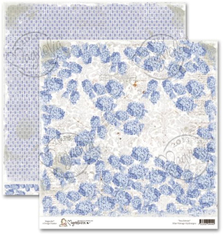 Magnolia Sea Breeze Schwerer Karton 12 Zoll x 12-inch-Vintage Blau Hydrangea (25 Stück) B00I3OE6X2 | München Online Shop