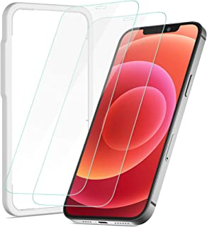NIMASO ガラスフィルム iPhone12 mini 用 強化 ガラス 保護 フィルム 2枚セット ガイド枠付き ノッチ保護