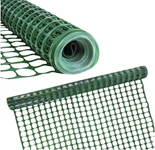BOEN Temporary Fencing, Mesh Snow Fence, 4 FT X 100 FT, Green Plastic, Safety Garden Netting, Above Ground Barrier, for Deer, Kids, Swimming Pool, Silt, Lawn, Rabbits, Poultry, Dogs