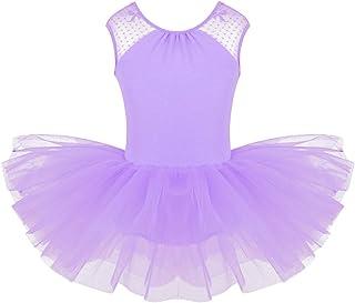 247c28a7210 FEESHOW Justaucorps Danse Femme Gym Fille Costume Robe Danse Classique  Caraco Fille sans Manches Leotard Danse