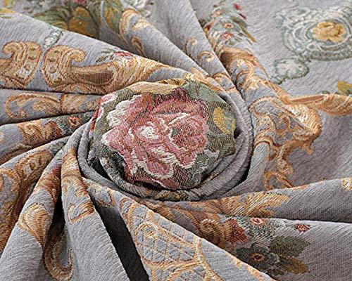 Moshone Stolze Rose Chenille Tischdecke Europäische Esstisch Abdeckung Stuhl Kissenbezug Runde Tischdecken (Color : Light Grey, Specification : 1 Set Chair Cover)