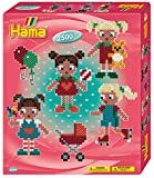 Hama 3244 Geschenkpackung Puppen, 2500 Perlen und Zubehör, Bunt