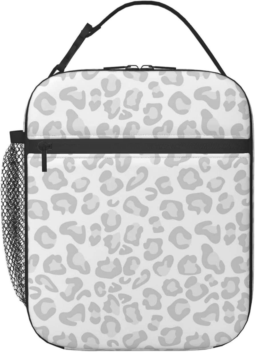 Animal Cheetah Greyscale Leopard Ranking TOP2 Lunch Bag Print Tote Recommended