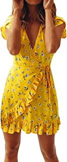 Summer Dress for Women Bandage Mini Dress Bodycon Evening Party Casual Short