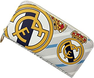 FOOT-ACC Real Madrid Fc Wallet Soccer Club Zip PU Long Purse White