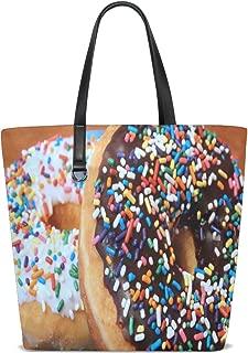 Donuts & Pastry Tote Bag Purse Handbag Womens Gym Yoga Bags for Girls