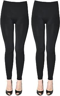 K. Bell Socks Womens 2387a-02 2 Pack Soft and Warm Fleece Lined Leggings Leggings