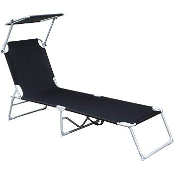 Dach Nue Klappbar Sonnenliege Gartenliege Sonnenschutz Liegestuhl Strandliege
