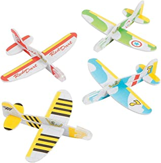 Kicko Mini Foam Airplane Glider - 24 Pieces Colorful Flying Plane - Perfect for Indoor, Outdoor and Open-Air Activities, Game on Summer Vacation, Field Trip, Play Parks, Stocking Stuffers and Fillers