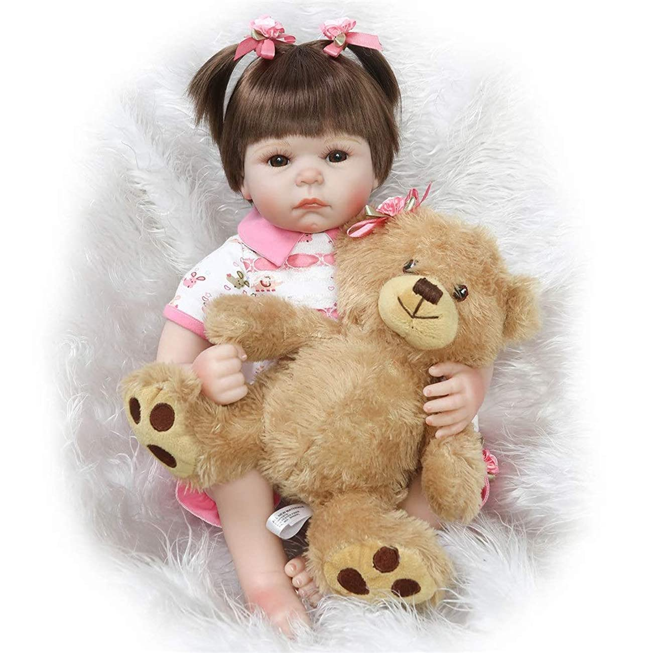 必要条件汗エコー模擬赤ちゃん人形はお リボーンベビードールソフトビビッドガールリアルなシミュレーションシリコーンビニール布ボディ22inch 55センチメートル (Color : Photo Color, Size : 55cm)