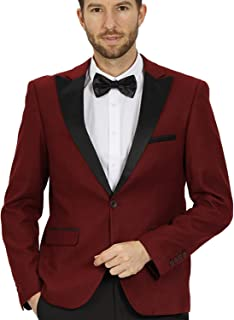 WEEN CHARM Men's Casual Suit Blazer Jackets Slim Fit Lightweight Jacket Notched Lapel Sports Coats One Button