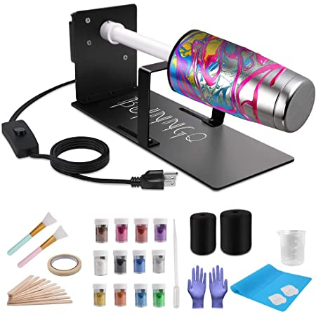 Electric Cuptisserie Spinner Machine Kit with Silent Motor and Safety Switch Professional Cuptisserie Tumbler for DIY Glitter Epoxy Crafts Asany Cup Turner for Crafts Tumbler