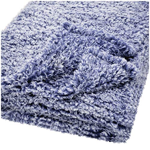 Mainstay Lightweight Navy Sherpa Throw 50 in x 60 in