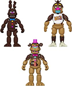 Funko FNAF Action Figure Set of 3 - Chocolate Bonnie, Chocolate Chica and Chocolate Freddy