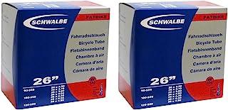 SCHWALBE(シュワルベ) 26×3.5/4.8(ファットバイク)用チューブ 仏式 40㎜バルブ 13J-SV 2本セット [並行輸入品]