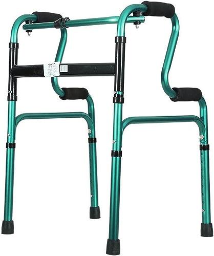 Les auxiliaires de Seat de Personnes agées Ont épaissi la Taille légère réglable de Walker Walker d'alliage d'aluminium Batons de randonnée (Couleur   vert)