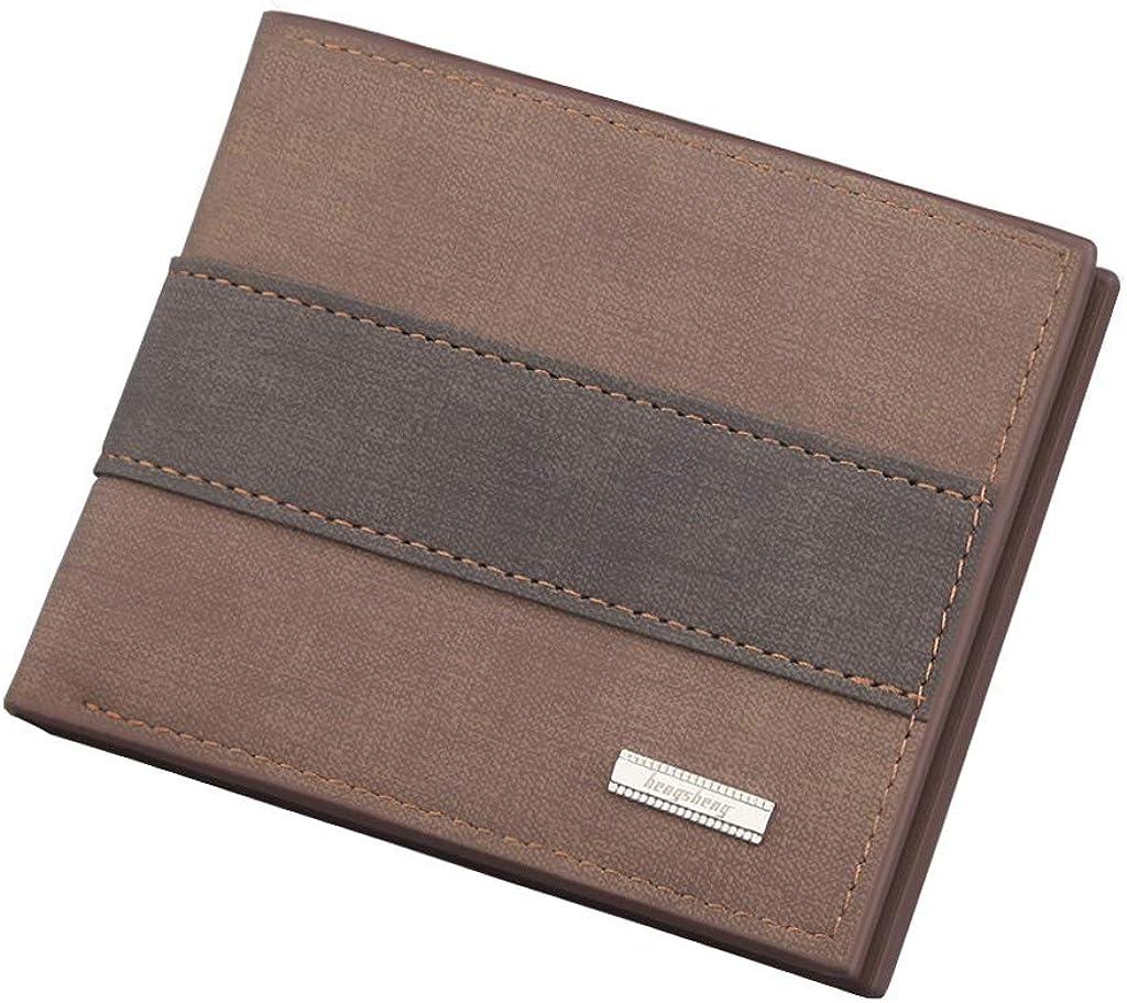 HebeTop Men Wallet Slim RFID Blocking Bifold Leather Coin Card Holder Purse