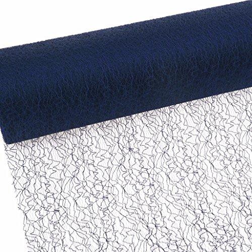 Spiderweb - Mesch - Tafelloper - Tafelband - 30 cm blauw - rol 25m - 67 004-R 300