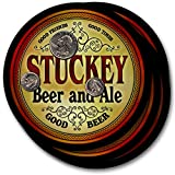 ZuWEE Brand Classic Beer & Ale Coaster Set Personalized with the Stuckey Family Name