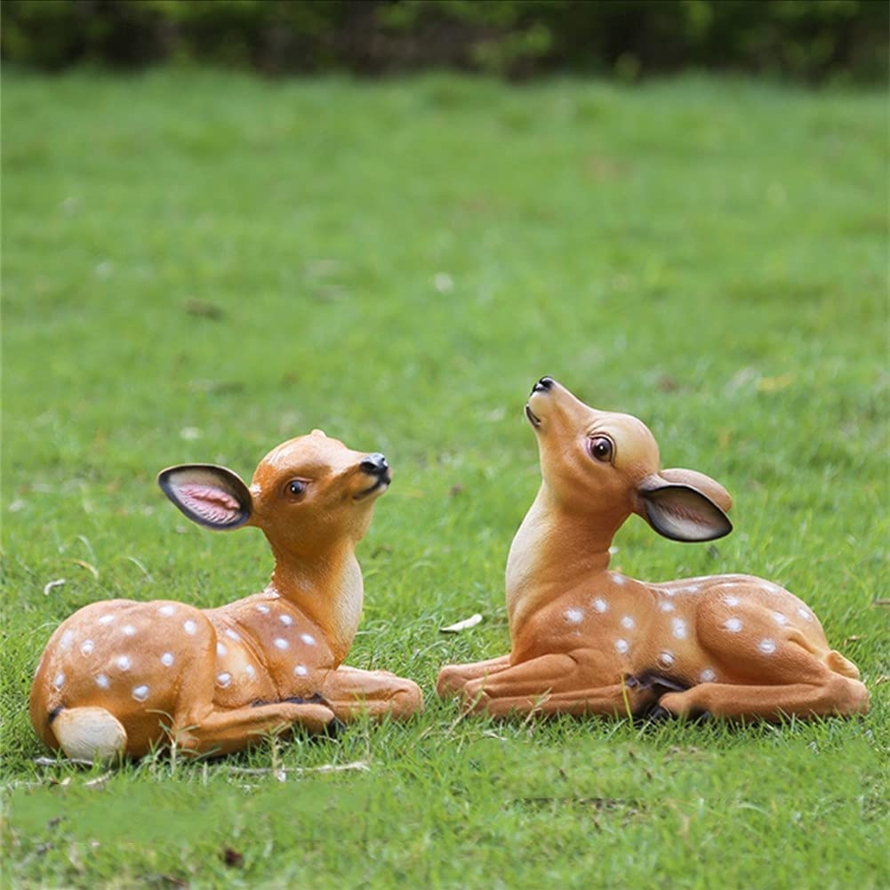 Sika Deer Garden Statues Outdoor Decor Animal Los Angeles Mall Resin for quality assurance Crafts G