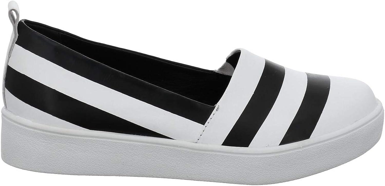 Gerry Weber Women Flat Slipper White, (black-Kombi) G32164875 101