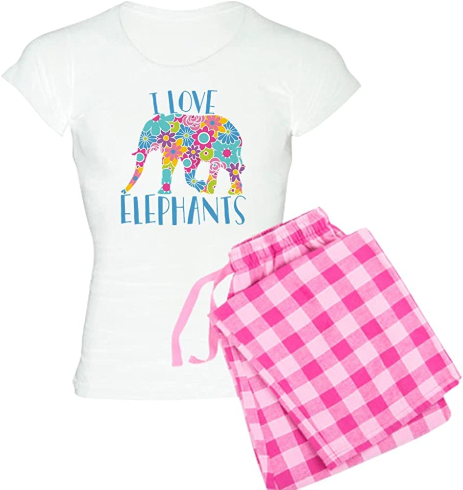 Max 85% OFF CafePress Detroit Mall I Love Elephants PJs Women's