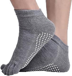 YiyiLai Unisex Fitness Anti Skid Full Toe Rubber Grips Ankle Yoga Pilates Socks