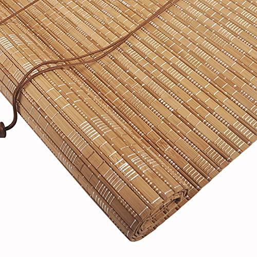 YAO YU Tonos de Rodillos Ciegos de Bambú Carbonizados, Decoración Vintage Bambú...
