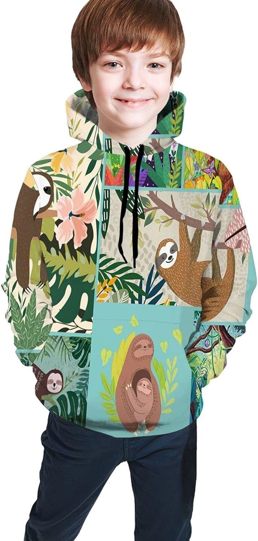 Kimisoy Teens Max 49% Under blast sales OFF Pullover Hoodie Wind Lightweight Sweatshirt Sloths