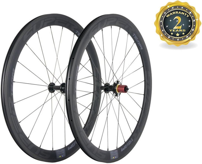 Superteam 700c Clincher Wheelset 50mm Depth Carbon Sapim Spoke Wheels Decals